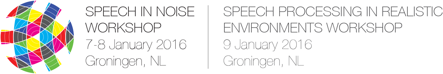 8th Speech in Noise Workshop, 7-8 January 2016, Groningen